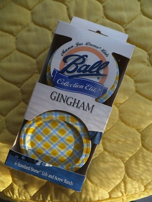 Ball Jar Lids Gingham1
