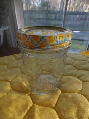 Ball Jar Lids Gingham4