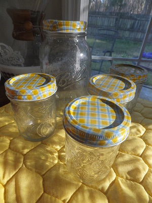 Ball Jar Lids Gingham5