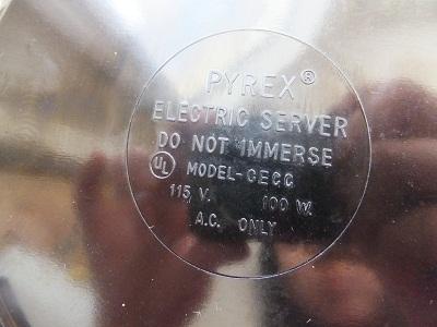 pyrex電熱式ウォーマー2