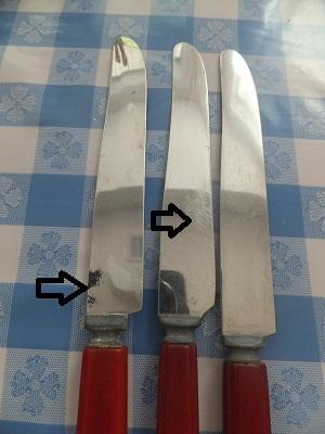 ベーカライト フリマ用 ナイフ1