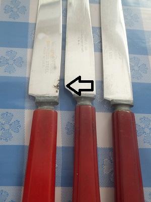 ベーカライト フリマ用 ナイフ2