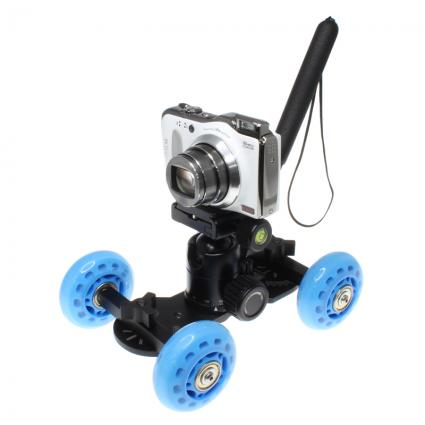「カメラ用ミニ台車 ムービングカメラドリー」-1