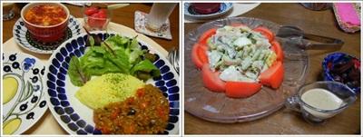 ドライカレー海鮮サラダ