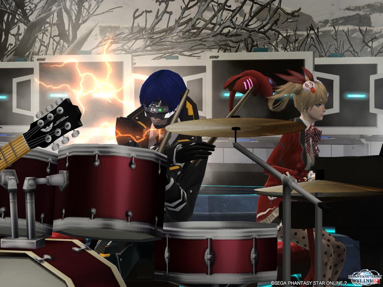 ドラムとピアノ