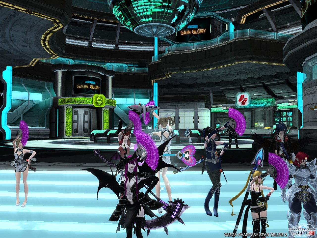 喜びをダンスで表現するチームメンバー
