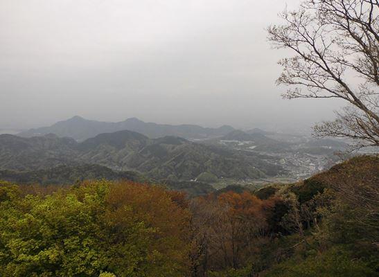 山頂からの箱根方面