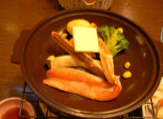ずわい陶板ステーキ