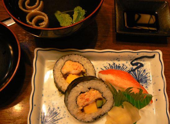 かに寿司盛り・お椀