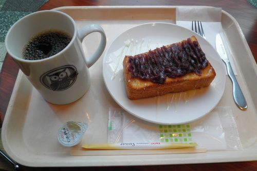 赤羽駅「Selfridge Cafe」小倉トースト(2014年3月4日)