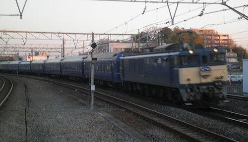 EF64 103*[長岡]牽引・特急「あけぼの」(2014年3月4日・宮原駅)