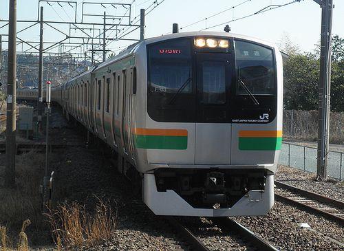 横コツE217系「F-03」編成(2014年3月8日・湯河原駅)