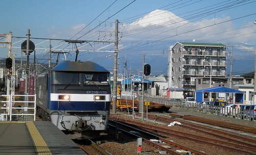EF210-170[新]牽引・高速貨物列車(2014年3月8日・富士川駅)