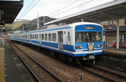 伊豆箱根鉄道3000系(第1編成)(2014年3月8日・牧之郷駅)