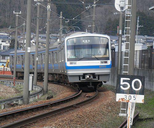 伊豆箱根鉄道7000系(第1編成)(2014年3月8日・大仁~牧之郷間)