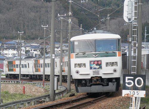 宮オオ185系「C4」編成(2014年3月8日・大仁~牧之郷間)