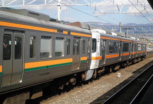 静シス313系「W9」編成+211系「LL7」編成(2014年3月8日・三島駅)1