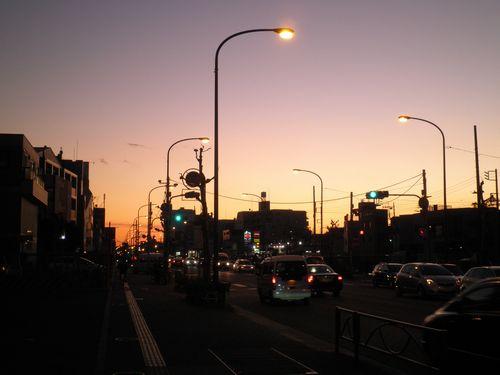 雑色(ぞうしき)付近の黄昏(2011年12月17日)