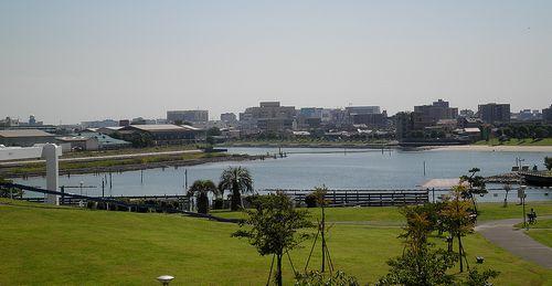 「大森海苔のふるさと館」テラスから見た入江(2013年9月19日)