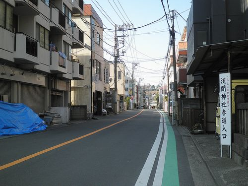 横浜市西区浅間町2丁目・旧東海道(2014年3月16日)