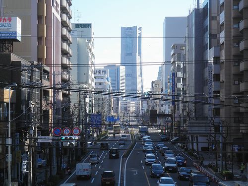 横浜市西区浅間下交差点(歩道橋から)(2011年12月25日)