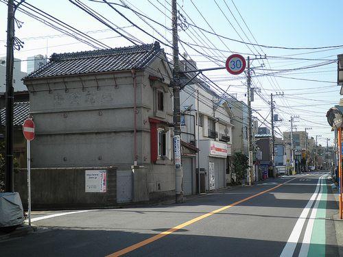 横浜市西区浅間町3丁目・旧東海道(2014年3月16日)