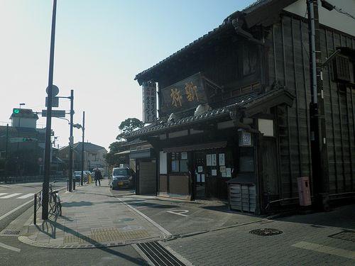 旧東海道・大磯・菓子店「新杵」(神奈川県中郡大磯町大磯)(2011年12月29日)