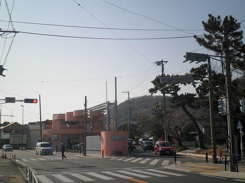 旧東海道・化粧坂交差点(神奈川県中郡大磯町大磯)(2011年12月29日)