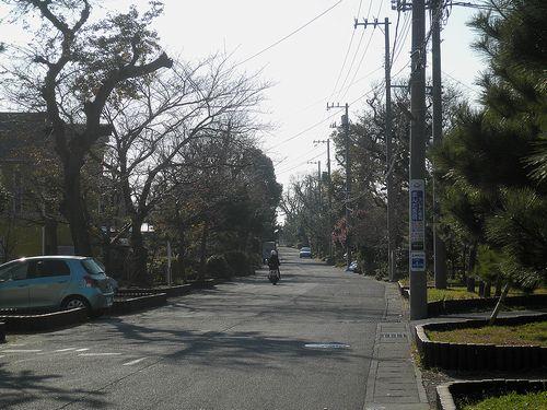 旧東海道・化粧坂(神奈川県中郡大磯町大磯)(2011年12月29日)