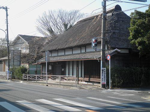 藁葺き屋根の民家(神奈川県中郡大磯町高麗1丁目)(2011年12月29日)