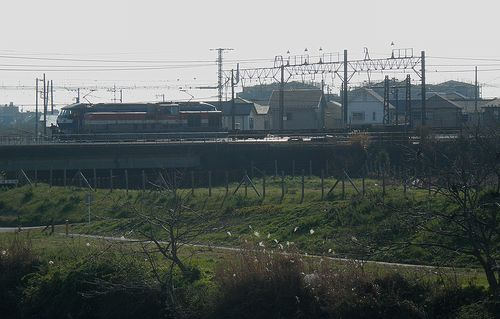 相模貨物駅・入換中のDE10形機関車(2011年12月29日)