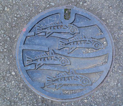 小田原市・マンホールの蓋(1)(2011年12月31日)