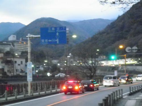 旧東海道(国道1号線)・小田原市湯本・三枚橋北詰(2011年12月31日)