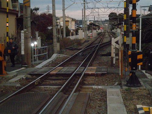 箱根登山鉄道入生田駅構内(2011年12月31日)