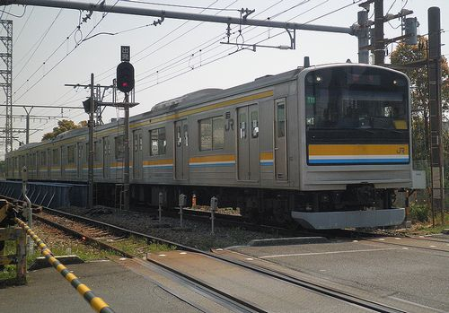 横ナハ205系「T11」編成(鶴見線浅野駅・2014年4月10日)