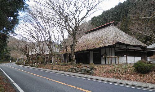 旧東海道・箱根東坂・甘酒茶屋(神奈川県足柄下郡箱根町)(2012年1月8日)