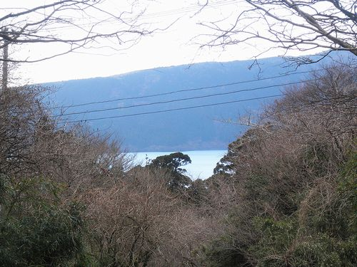 旧東海道・箱根東坂・権現坂から見た芦ノ湖(神奈川県足柄下郡箱根町)(2012年1月8日)