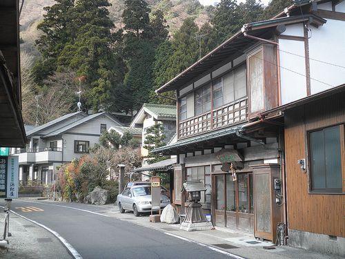 旧東海道・畑宿本陣前(神奈川県足柄下郡箱根町)(2012年1月8日)