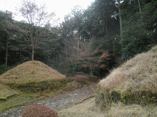 旧東海道・畑宿一里塚(神奈川県足柄下郡箱根町)(2012年1月8日)
