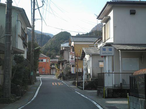 旧東海道・畑宿(神奈川県足柄下郡箱根町)(2012年1月8日)