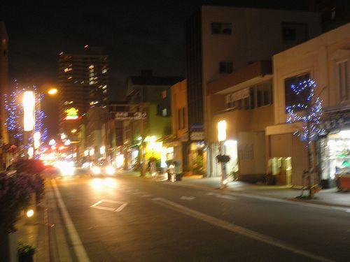 旧東海道・三島宿(静岡県三島市本町)(2012年1月28日)