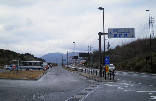 国道1号線・箱根エコパーキング(静岡県函南町桑原)(2012年1月8日)1