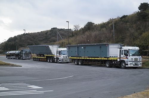 国道1号線・箱根エコパーキング(静岡県函南町桑原)(2012年1月8日)2