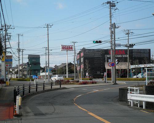 旧東海道・沼津市大岡(東下石田交差点)(2012年1月29日)