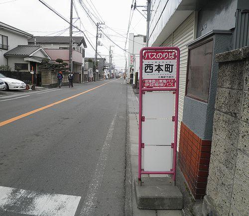 旧東海道・三島市西本町(2012年1月29日)