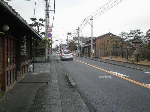 旧東海道・静岡県駿東郡清水町伏見付近(2012年1月29日)