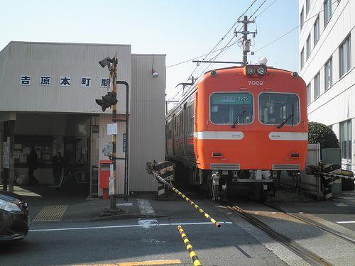 岳南鉄道吉原本町駅(富士市吉原1丁目)(2012年2月22日)