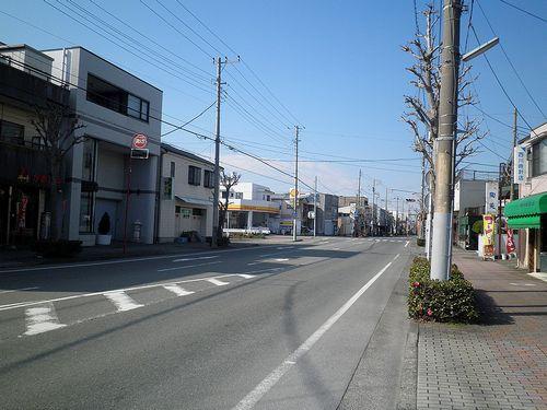 旧東海道・沼津市市道町(2012年1月29日)