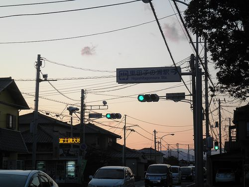旧東海道・柏原(東田子の浦駅入口)(富士市中柏原新田)(2012年1月29日)