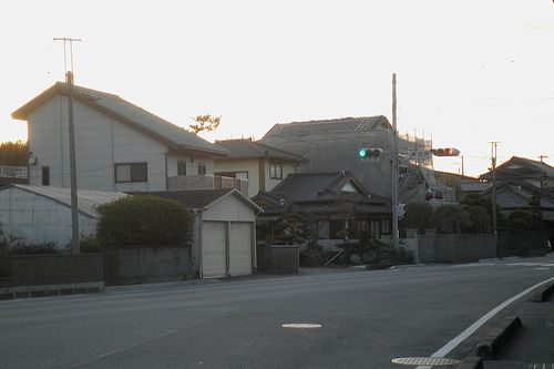 旧東海道・柏原「間の宿」(富士市東柏原新田)(2012年1月29日)